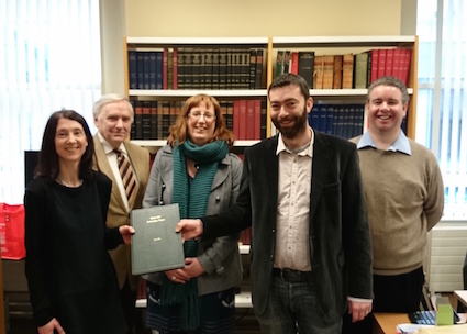 Official handover of the Ballon Hill Archaeology Project Phase I report to Carlow County Library