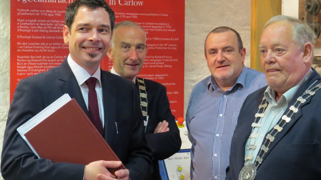 John Shortall, John Murphy, John Kelly & Bertie Watchorn at CHAS website launch