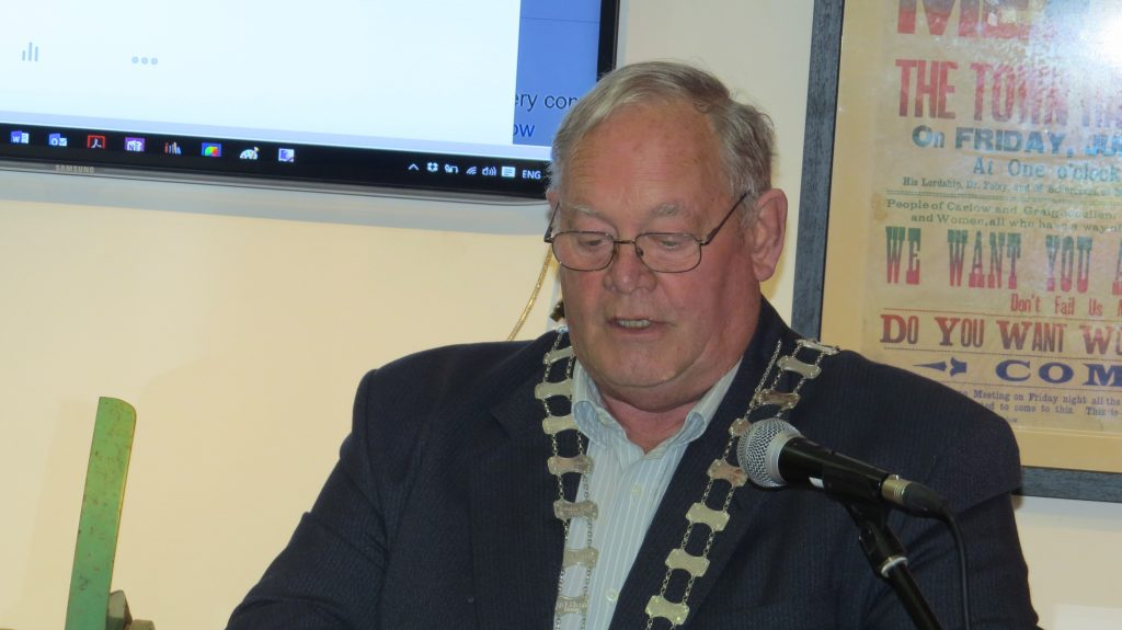 CHAS President Bertie Watchorn speaking at CHAS website launch