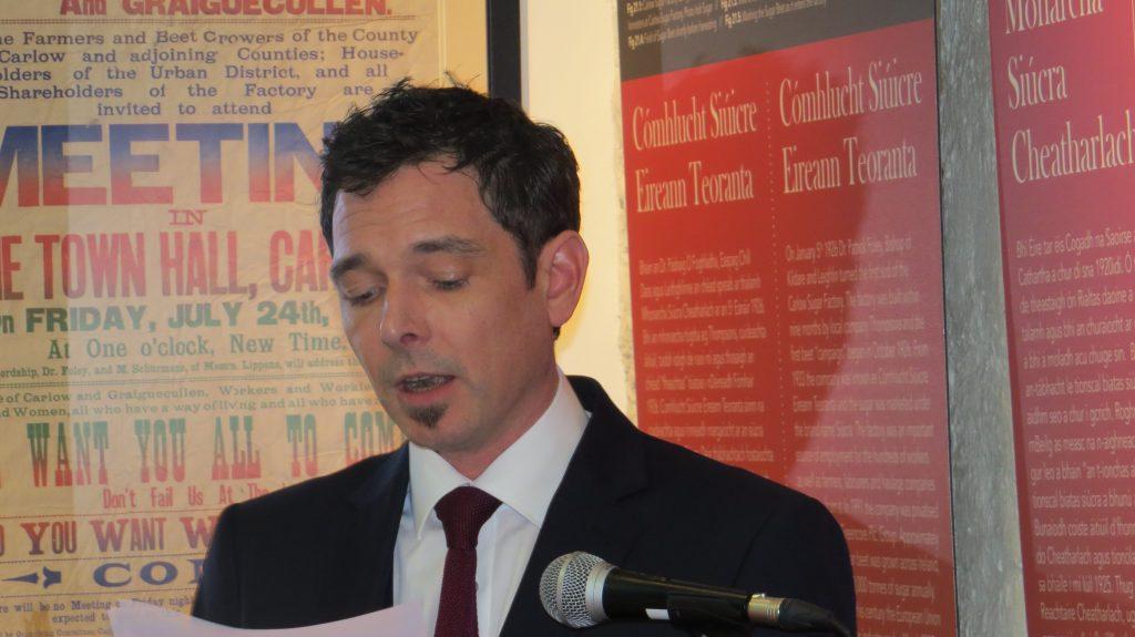 John Shortall, Carlow County Library, launching CHAS website