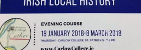 New Local History Course starting January 2018