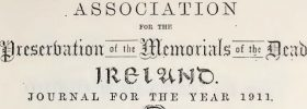 CHAS makes Carlow and Laois entries from the Journal for the Memorials of the Dead Carlow available online